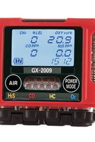 Gas Detector, GX-2009 4 Sensor LEL-O2-H2S-CO with Clip and Charger - US Marine Supply LLC