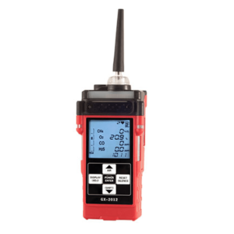 Gas Detector, GX-2012 4 Sensor LEL/02/H2S/CO with Clip and Charger - US Marine Supply LLC